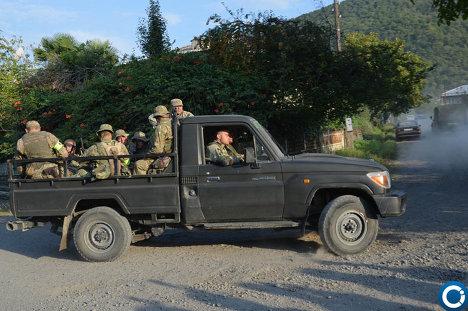 Спецоперация МВД Грузии близ грузино-российской границы - ФОТО 215181137